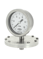 Industrial diaphragm pressure gauge